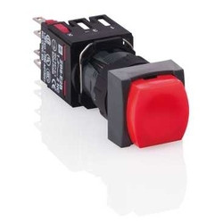 black complete rectangular selector switch